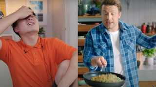 Malaysian comedian Uncle Roger roasts Jamie Oliver's egg fried rice recipe. Picture: YouTube screenshot