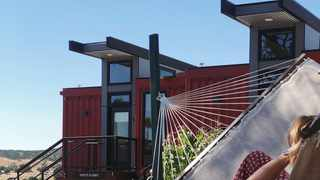 Geneseo Inn upcycled old shipping containers into new buildings. Picture: Instagram/Geneseo Inn.