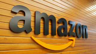 The logo of Amazon is pictured inside the company's office in Bengaluru, India. File picture: Reuters/Abhishek N. Chinnappa