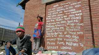 """(Left) """"Ouma"""" Bettie Mokoena and Juline Ludick standing next to Lansdowne station where they live. Photographer: Armand Hough/African News Agency(ANA)"""
