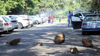 A file picture taken during a protest at the University of KwaZulu-Natal's Westville campus earlier this year. Unrest broke out at the university on Monday when students protested about financial exclusion and other funding issues. Picture: Motshwari Mofokeng/African News Agency (ANA) Archives