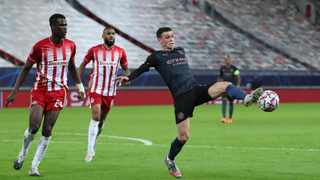 Manchester City's Phil Foden scored in their Champions League win over Olympiacos. Picture: Alkis Konstantinidis/Reuters