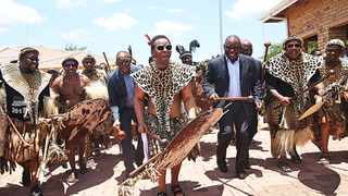 The late King Goodwill Zwelithini and President Cyril Ramaphosa. Picture: ANA Photographers African News Agency (ANA) Archives