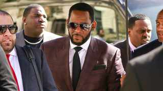 R&B singer R. Kelly, centre, arrives at the Leighton Criminal Court building for an arraignment on sex-related felonies in Chicago in June 2019. File picture: Amr Alfiky/AP