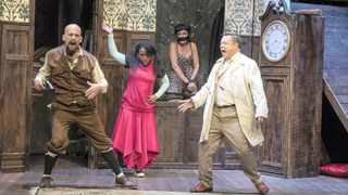 MURDER MOST FOUL: The stellar cast of The Play That Goes Wrong put on a rib-tickling performance with serious gusto.