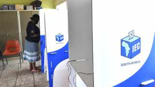 A resident casts her vote in the Super Wednesday municipal elections. Picture: Itumeleng English/African News Agency(ANA)