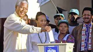 Nelson Mandela casts his vote at Ohlange High School hall in Inanda on April 27, 1994. File picture: John Parkin/AP