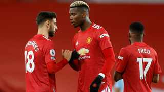 FILE - Manchester United's Paul Pogba and Bruno Fernandes. Photo: Phil Noble/Reuters