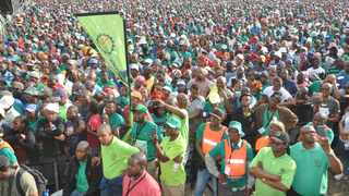 Amcu members. The union said it had a change of heart following a mass meeting held last week. File Photo: IOL