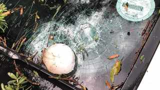 Hail the size of tennis balls fell over Pietermaritzburg on Wednesday afternoon, the South African Weather Service has issued another severe thunderstorm over parts of northern KwaZulu Natal on Thursday afternoon. Picture: Supplied.