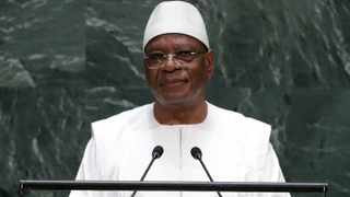 Mali's President Ibrahim Boubacar Keita addresses the 74th session of the United Nations General Assembly in 2019. File picture: Frank Franklin II/AP