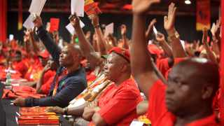 EFF President Julius Malema is seen during the top six nominations at the 2nd National People's Assembly Conference at Nasrec, Johannesburg. Picture: Nhlanhla Phillips/African News Agency(ANA).