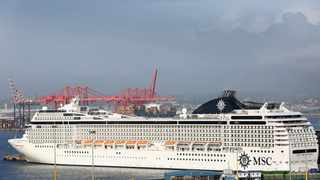 The MSC Orchestra docked at N-Shed after a ban on all travel from ports was introduced due to the Coronavirus. Picture: Shelley Kjonstad/African News Agency(ANA)