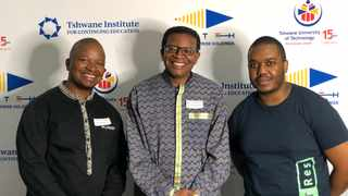 Tshepo Ditshego, Nick Motsatse and Musa Khosa were among members of TUT Enterprise Holdings to address the National Press Club. Lali van Zuydam