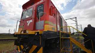 Transnet SOC Limited today officially launched a 375-wagon manganese train, which is a production train with the most number of wagons in the world. Picture: Kopane Tlape