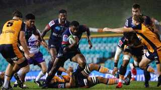 The Melbourne Rebels in action against the ACT Brumbies on Friday. Photo: @MelbourneRebels on twitter