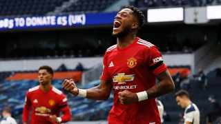 Manchester United's Fred celebrates after scoring the equalising goal in their Premier League clash against Tottenham Hotspur in London on Sunday. Photo: Adrian Dennis/Reuters