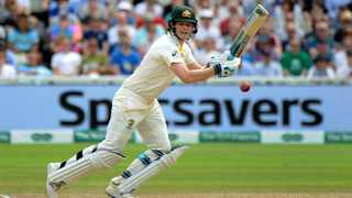 Steve Smith became only the fifth Australian to score successive centuries in an Ashes Test. Photo: Rui Vieira/AP