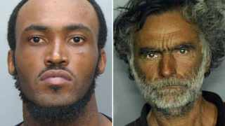 This combo made with undated photos made available by the Miami-Dade Police Dept. shows Rudy Eugene, 31, left, who police shot and killed as he ate the face of Ronald Poppo, 65, right, during a horrific attack in the shadow of the Miami Herald's headquarters.