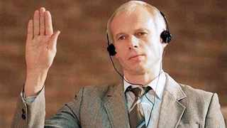 This November 1997 file picture shows Polish immigrant and convicted killer Janusz Walus being sworn-in during a TRC hearing in Mamelodi, Pretoria. Picture: Cobus Bodenstein/AP
