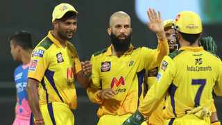Moeen Ali scored 26 off 20 balls and picked up three wickets as he guided Chennai Super Kings to a 45-run win over Rajasthan Royals on Monday. Photo: @ChennaiIPL/Twitter