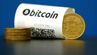 A Bitcoin (virtual currency) paper wallet with QR codes. File picture: Reuters/Benoit Tessier