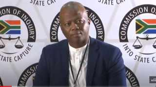Abel Kgotso Manyike, a director at ORI Group, is testifying at the Zondo commission. Screengrab: SABC/YouTube