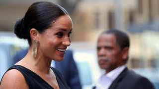 Britain's Meghan, Duchess of Sussex, arrives to visit the NGO Mothers 2 Mothers (m2m) in Cape Town. Picture: Reuters