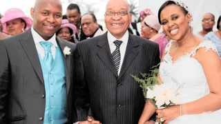 Edward Zuma seen here in this file picture with his father President Jacob Zuma and wife Phumelele Shange on their wedding day.