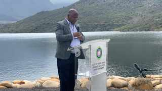 "Mayor Dan Plato said: ""It must be emphasised that the full dams are an achievement we arrived at collectively."" Picture: Marvin Charles/Cape Argus"