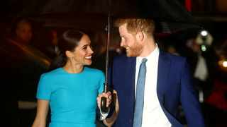 Britain's Prince Harry and his wife Meghan, Duchess of Sussex, arrive at the Endeavour Fund Awards in London. Picture: Reuters