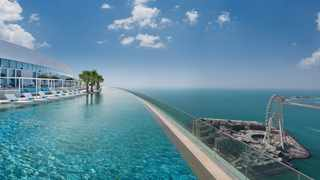 Address Beach Resort's infinity pool is the world's highest infinity pool, according to Guinness World Records. Picture: Address Beach Resort.