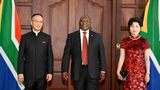 Newly-appointed Chinese Ambassador to South Africa Chen Xiaodong, accompanied by his wife Zhang Bin, at the Sefako Makgatho Presidential Guest House in Pretoria. Picture: Kopano Tlape/GCIS