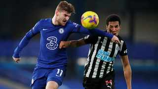 Chelsea's Timo Werner and Newcastle United's Isaac Hayden Pool battle for the ball during their Premier League match. Picture: Paul Childs/Reuters