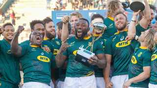 The Springboks celebrate their 2019 Rugby Championship 2019 title. Picture: EPA/Jan Touzeau