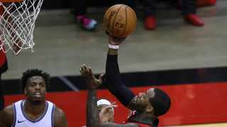 John Wall of the Houston Rockets puts up a basket during the fourth quarter of their game against the Sacramento Kings. Picture: Carmen Mandato/USA TODAY Sports via Reuters