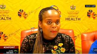 Limpopo Health MEC Dr Phophi Ramathuba made the announcement that a doctor in the province has tested positive and stressed that he did not show any signs of infection on his return to the country. Screengrab from YouTube
