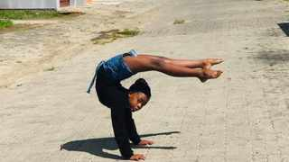 Sesona Tshume, 13, from King William's Town in the Eastern Cape, is a self-taught contortionist. Photo: supplied