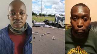 Police Constable Zacharia Makgaolane Magopa (left) and Bongumusa Jele (right) are suspects in a cash-in-transit heist which happened in Mpumalanga.