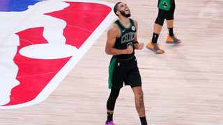 Jayson Tatum (pictured) had 29 points and 12 rebounds, Jaylen Brown scored 21 and the Boston Celtics advanced to the Eastern Conference finals with a 92-87 Game 7 win over the Toronto Raptors. Picture: Mark J. Terrill/AP Photo