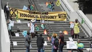 South Africa - Cape Town - 3 March 2021 - Extinction Rebellion Cape Town delivered a letter signed by 10 environmental organisations demanding that Cape Town Municipality declare a climate and ecological emergency on Wednesday. Photographer: Armand Hough/African News Agency(ANA)