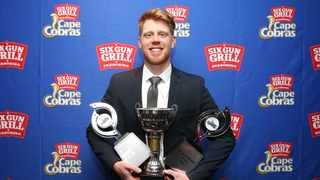 Kyle Verreynne with his haul at from the Cobras end of season awards. Photo: Shaun Roy/BackpagePix