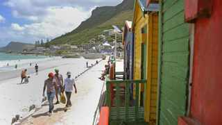 Renovations to the iconic colourful beach huts situated on Cape Town's Muizenberg beach have officially begun. Picture: Tracey Adams/African News Agency(ANA)