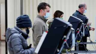 Voters cast their ballots in the U.S. Senate run-off election, at a polling station in Marietta, Georgia. Picture: Mike Segar/Reuters