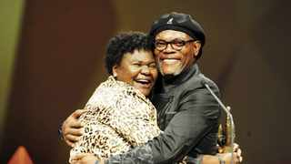 Ndlovu's greatest achievement was receiving a SAFTA Award for best actress in a feature film for 2013 film 'Little One' which was presented to her by US actor Samuel L Jackson. Picture: @KwaZulu-Natal Film/Twitter