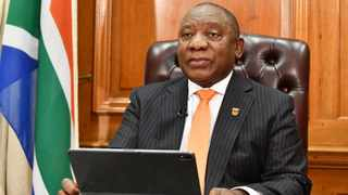 President Cyril Ramaphosa briefs the nation on South Africa's progress in fighting Covid-19. Picture: Kopano Tlape/GCIS