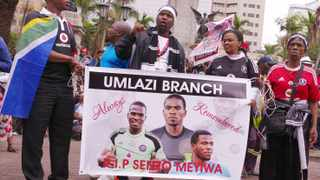 Mourners pay tribute to footballer Senzo Meyiwa at the Durban City Hall on Friday, October 31, 2014. File photo: Giordano Stolley