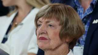 """Margaret Court has criticised Tennis Australia (TA) following her awkward appearance at the Australian Open last week, saying the governing body had """"discriminated"""" against her due to her opposition to gay marriage. Photo: Reuters"""