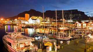 The V&A Waterfront at night. Picture: Coastal Property Group.