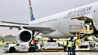 The second batch of the Johnson and Johnson vaccine arrived at OR Tambo International Airport in Gauteng on Saturday. Picture: Leon Lestrade / African News Agency (ANA)